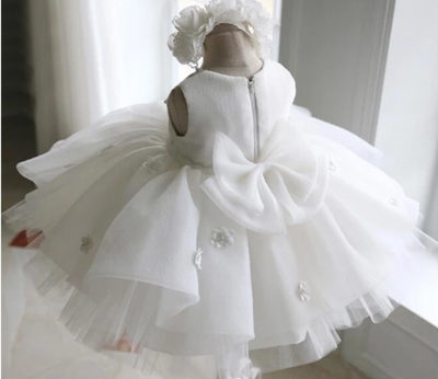 FG216 White Princess Girl Dress