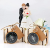 50pcs Wedding Favors Kraft  Box +Compass with Tag