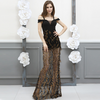 MX46 Black see through Sequin Party Dress