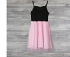 MM03 Pink Patchwork Mesh Mom and Daughter Matching Dress
