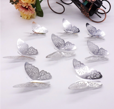 3D Wall Stickers Butterflies For DIY Wedding & Party Decor