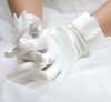 BJ03 Satin with Pearl  Bridal Gloves