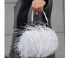 CB64 Ostrich Feather Party Clutch Bags ( 5 Colors)