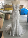 Strapless sweet heart Mermaid Wedding Dress with Detachable Cape