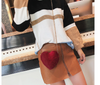 CB70 Korean Heart shape Faux Fur Shoulder bags (6 Colors)