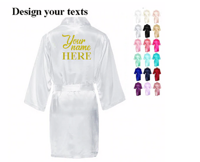 Customized Bridesmaid Robes for Bachelorette Party