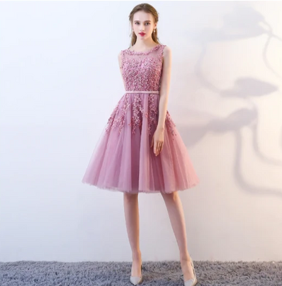 PP07 Tulle Princess Style Short Cocktail Dresses(3 Colors)