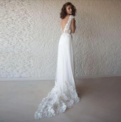 CW04 Lace Beach Wedding Dress
