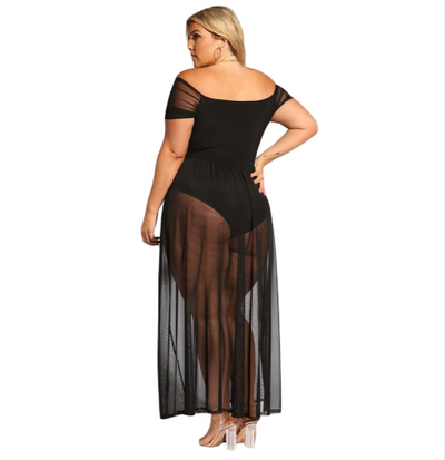 MX146 Plus Size sexy hollow out beach Dress