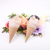 10Pcs/lot Burlap Pew Cone Flower Holder For Rustic Wedding Decoration