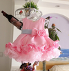 FG122 Floral cupcake ball gown Baby girl Dress