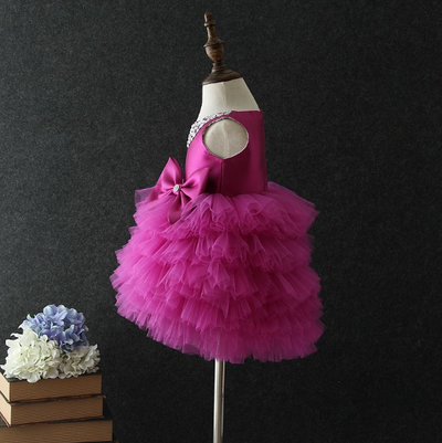 FG235 : Sleeveless tutu dresses (Blue/Purple/White/Red)