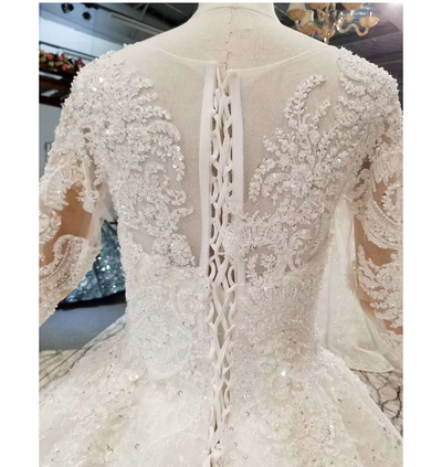 HW06 Luxury Plus Size Long Sleeve Bridal Gowns