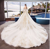 CW182 Princess Lace Long Sleeve Wedding gown with royal train