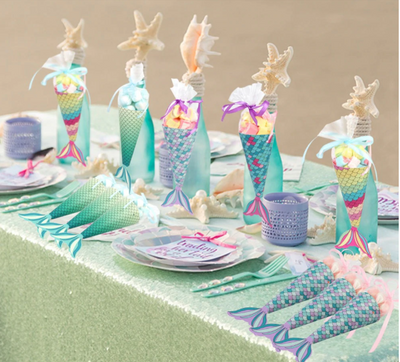 Mermaid tail Paper Candy Gift Box