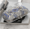 CB156 Blue Rhinestone Evening clutch Bag