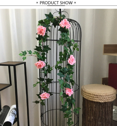 Artificial rose flower vine  Wedding Wall Decoration