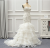 CW186 Real Photo Strapless layer skirt mermaid Wedding Dress