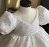 FG134 Sequins ball gown Flower girl dress