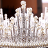BJ142 Pearl Round Wedding Crowns(Silver/Gold)