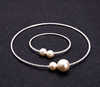 BJ52 Set of simulated Pearl Necklace +Bracelet