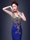 PP61 Embroidery mermaid Evening Dresses(4 Colors)