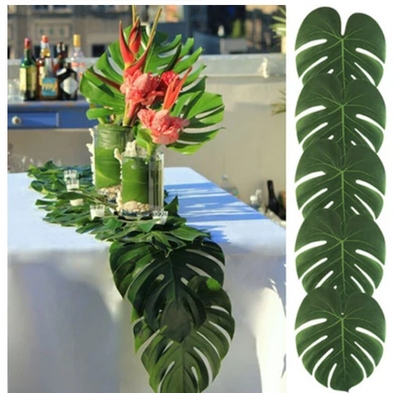 12pcs/Lot Artificial Palm Leaves for Wedding & Party Decor