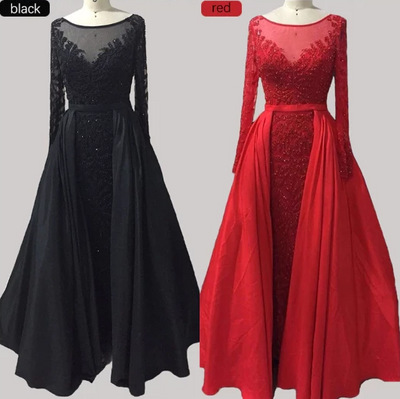 Luxury Muslim crystal beaded Evening Gown (10 Colors)