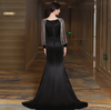 Classic Black Long sleeve mermaid Evening Dresses