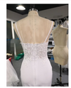 CW219 Simple Lace Spaghetti Strap open back Mermaid Wedding Dress