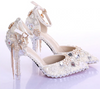 BS12 Ivory Pearl diamond Wedding Shoes