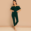 JR63 Layered Neck Sweetheart Jumpsuit