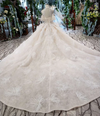 High grade halter neck with feather Bridal Gowns with Chapel Train