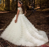 FG180 High Quality Lace Appliques Flower girl dress