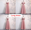 BH152 : 4 Styles Lace Bridesmaid Dresses (Gray/Pink)