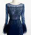 LG62 Feathers beaded Evening Dresses ( 2 Colors )