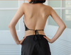 TJ82 Sexy Chinese style backless halter Tops