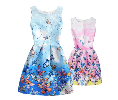 MM07 Casual summer floral print Mini me Matching Dresses (11 Styles)