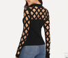 JR17 Black Square Cutout Tops