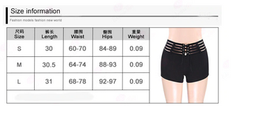 TP05 Sexy Punk High Waist Hollow Out Short Pants
