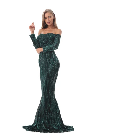 PP213 Sexy sequined off the shoulder Party Dresses (5 Colors)