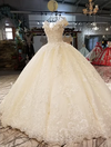 Real Photo Luxury shiny sequined with 3d flowers beaded wedding dress