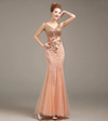 PP131 V-Neck Beaded Mermaid Evening Dresses(7 Colors)
