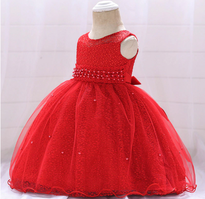 FG273 sleeveless beaded Girl dresses(13 Colors)