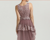 Sleeveless Lace Mermaid Evening Gowns(Pink/Champagne)