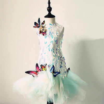 FG138 Tulle with 3D Butterfly Princess Girl Dress