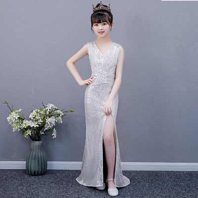 FG330 Sequined Evening Gown for Girls