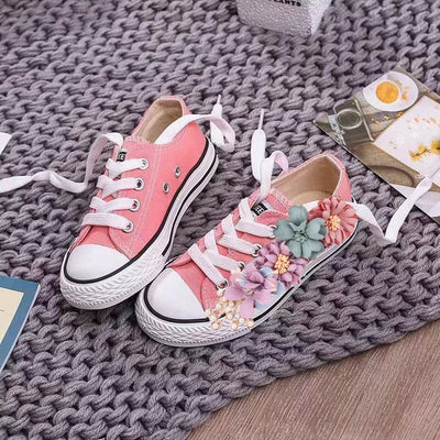 BS28 Colorful flower Bridal Sneakers (22 Colors)