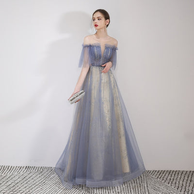 BH203 Tulle Glitter Bridesmaid Dress