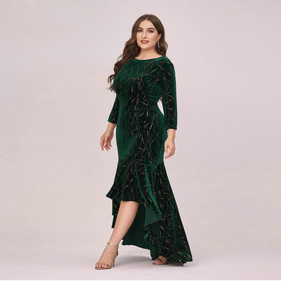 BH245 Plus size velvet high low Bridesmaid dresses ( 3 Colors)